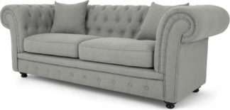An Image of Branagh 2 Seater Chesterfield Sofa, Pearl Grey