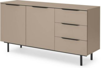 An Image of Damien Sideboard, Cappuccino & Black