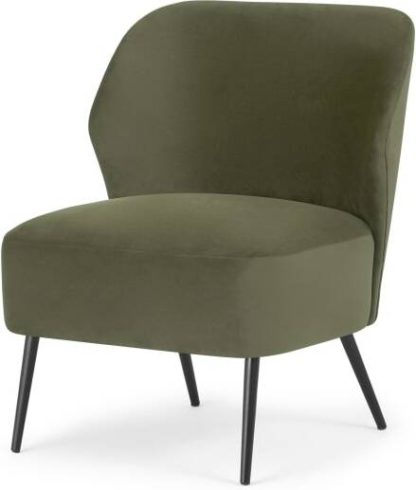 An Image of Topeka Accent Armchair, Sycamore Green Velvet