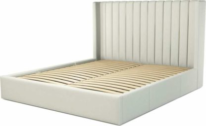 An Image of Custom MADE Cory Super King size Bed with Drawers, Putty Cotton