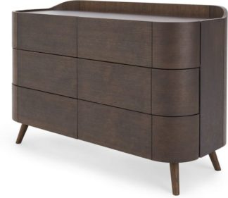 An Image of Odie Wide Chest of Drawers, Dark Stain Oak
