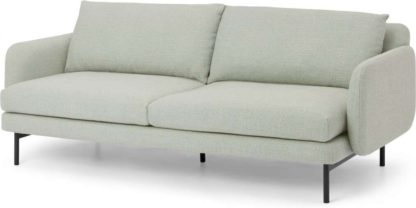 An Image of Miro 3 Seater Sofa, Oat Weave