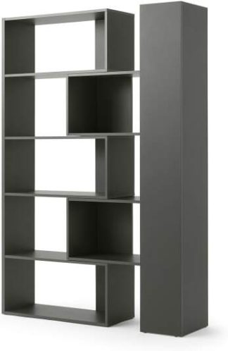An Image of Doyle Extending Shelving Unit, Slate Grey