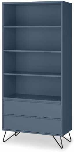 An Image of Elona Bookcase, Slate Blue & Black