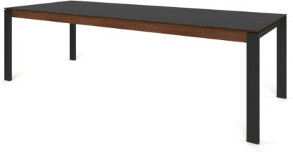 An Image of Custom MADE Corinna 12 Seat Dining Table, Grey HPL and Black