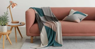 An Image of Holden Cotton Knit Throw 130 x 170cm, Multi