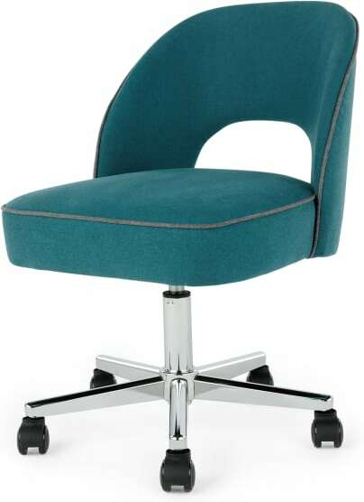 An Image of Lloyd Office Chair, Mineral Blue and Marl Grey