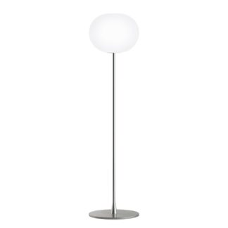 An Image of Flos Glo-Ball F1 Floor Lamp Silver