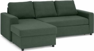 An Image of Aidian Corner Storage Sofa Bed, Woodland Green