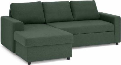 An Image of Aidian Corner Storage Sofa Bed, Woodland Green