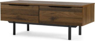 An Image of Damien Coffee Table, Walnut and Black