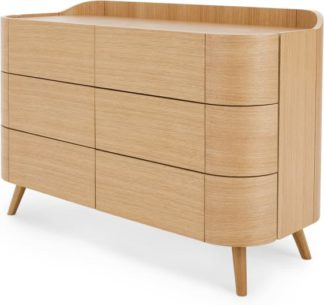 An Image of Odie Wide Chest of Drawers, Oak