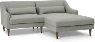 An Image of Herton Right Hand Facing Small Chaise End Sofa, Mountain Grey