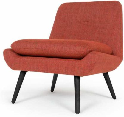 An Image of Jonny Accent Armchair, Revival Orange