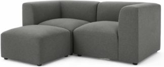 An Image of Juno 2 Seater Modular Sofa with Footstool, Marl Grey