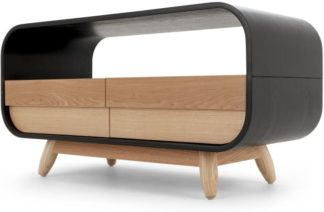 An Image of Esme Compact TV Stand, Black and Ash