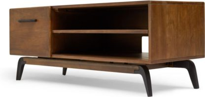 An Image of Lucien TV Stand, Dark Mango Wood