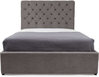 An Image of Skye King Size Ottoman Storage Bed, Pewter