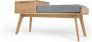 An Image of Jenson Storage Bench, Oak