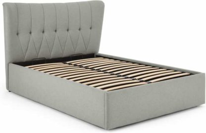 An Image of Charley King Size Ottoman Storage Bed, Hail Grey
