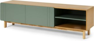 An Image of Asuna Wide TV Unit, Oak & Fern Green