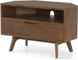 An Image of Jenson Corner TV Unit, Dark Stain Oak