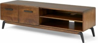 An Image of Lucien Wide Media Unit, Dark Mango Wood