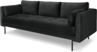 An Image of Harlow, 3 Seater Sofa, Mourne Grey Velvet