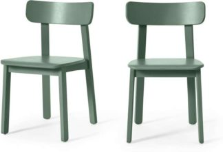 An Image of Asuna Set of 2 Dining Chairs, Fern Green