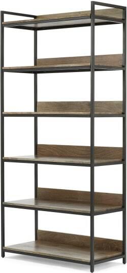 An Image of Lomond Modular Shelves, Mango Wood and Black