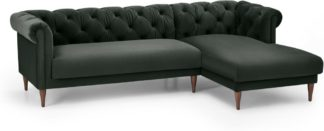 An Image of Barstow Right Hand Facing Chaise End Corner Sofa, Dark Anthracite Velvet