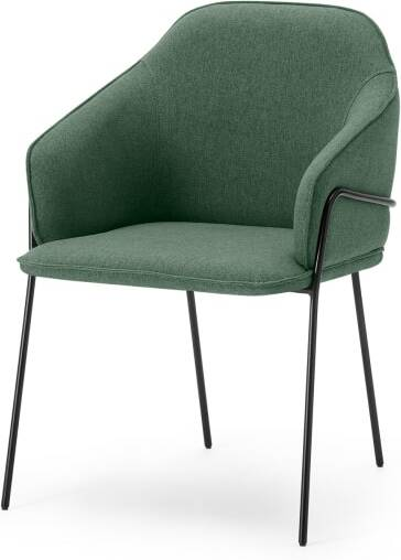 An Image of Stanley Carver Dining Chair, Bay Green & Black