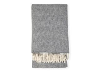 An Image of Heal's Extra Long Merino & Cashmere Throw Grey