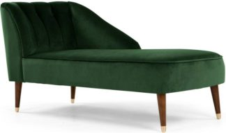 An Image of Margot Right Hand Facing Chaise Longue, Forest Green Velvet