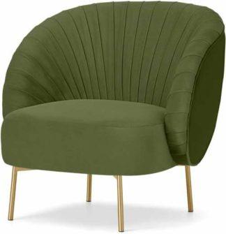 An Image of Ilana Accent Armchair, Fir Green Velvet