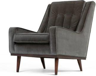 An Image of Scott Armchair, Concrete Cotton Velvet