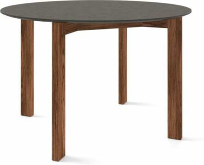 An Image of Custom MADE Niven 4 Seat Round Dining Table, Concrete and Walnut