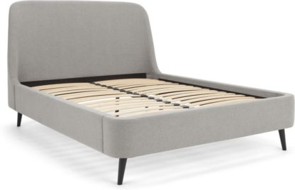 An Image of Hayllar King Size Bed, Cool Grey
