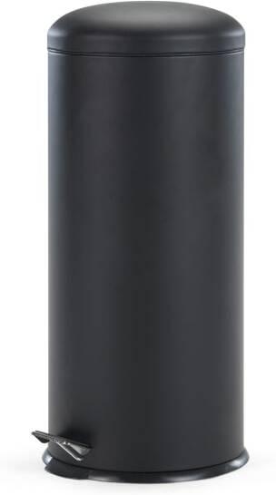 An Image of Joss 30L Domed Pedal Bin, Black