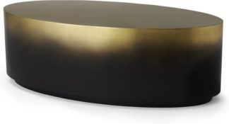 An Image of Sulta Oval Coffee Table, Brass & Black Ombre