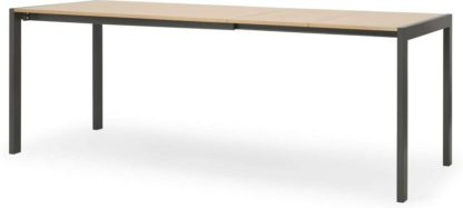 An Image of Swift 4-8 Seat Dining Table, Oak & Grey