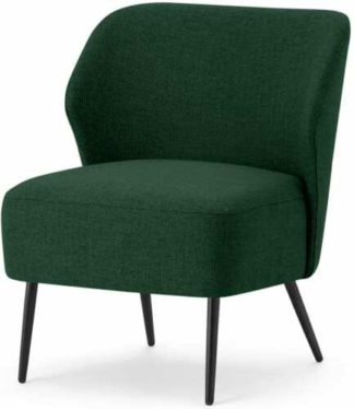 An Image of Topeka Accent Armchair, Forest Green Weave