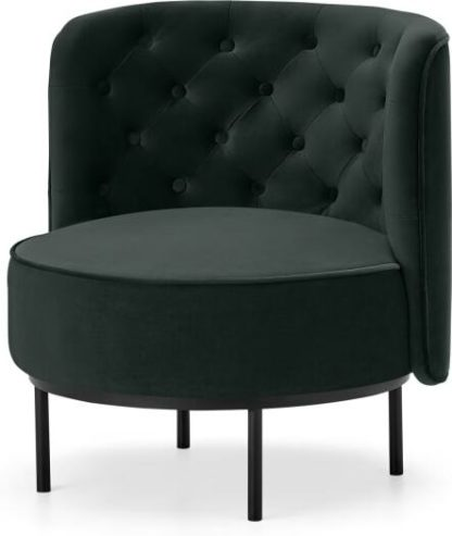 An Image of Ethel Cocktail Accent Chair, Dark Anthracite Velvet