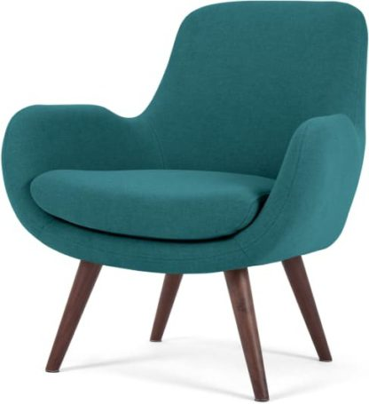 An Image of Moby Accent Armchair, Mineral Blue