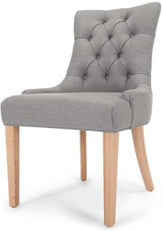 An Image of Flynn Scoop Back Chair, Graphite Grey