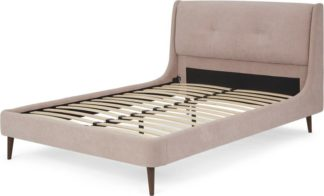 An Image of Raffety Double Bed, Soft Shell Pink