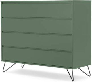 An Image of Elona Chest of Drawers, Fern Green & Black