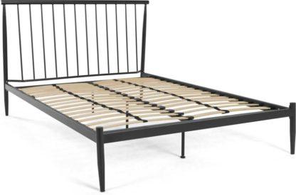 An Image of Penn Super Kingsize Bed, Black