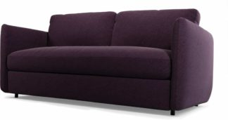 An Image of Fletcher 3 Seater Sofabed with Memory Foam Mattress, Malbec