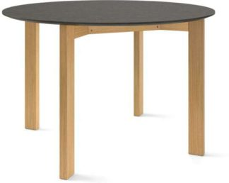 An Image of Custom MADE Niven 4 Seat Round Dining Table, Concrete and Oak